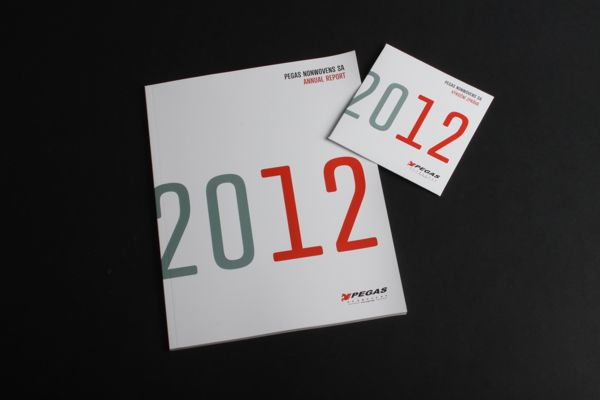 Pegas Annual Report 2012 by lamrgraphic.com, via Behance