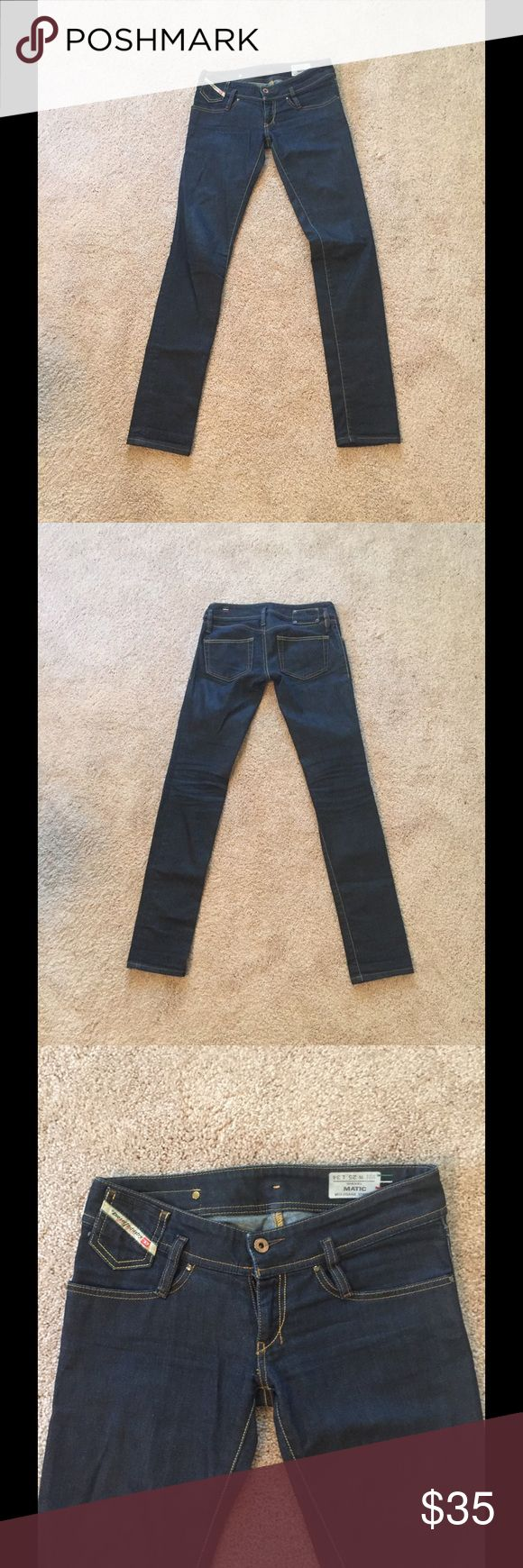 ⚡FLASH SALE⚡ Diesel Matic Stretch Jeans Dark wash, skinny, five pocket style, 98% cotton, 2% elastane. Hand wash. Diesel Jeans Skinny