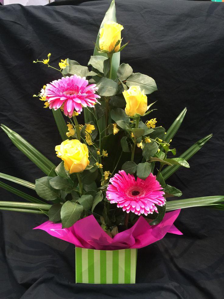Roses gerbera & orchids
