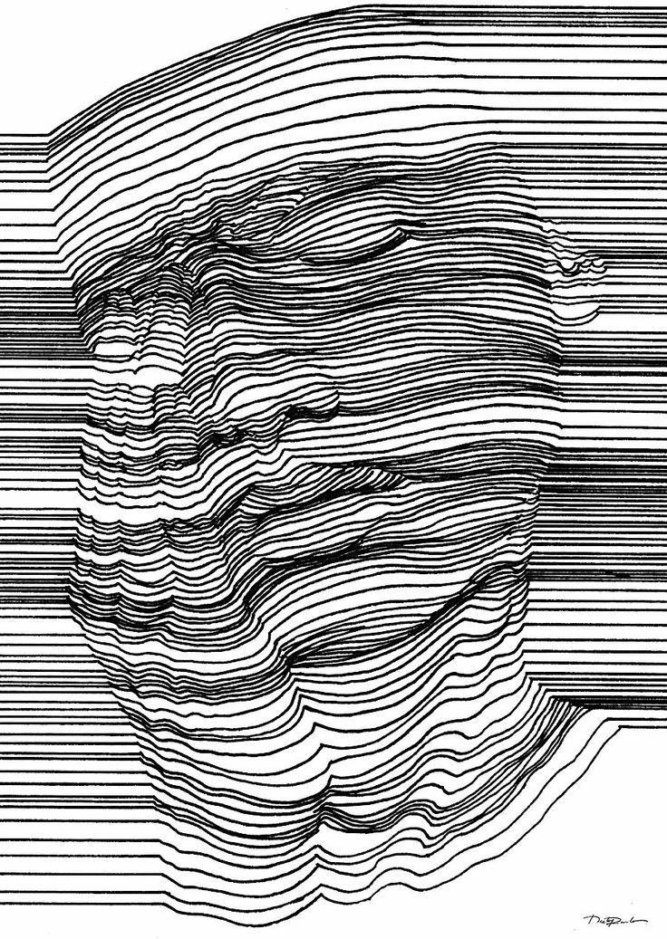Optische Täuschung mit 3D-Effekt durch geschickte Linienführung - KlonBlog