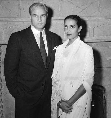 Marlon Brando and his first wife Anna Kashfi in 1957