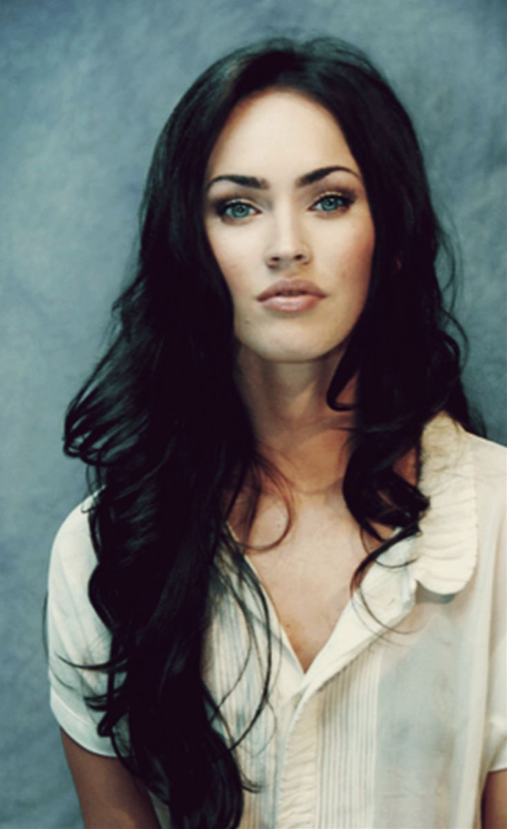 MEGAN FOX beautiful hair  (found next to )saint picture)