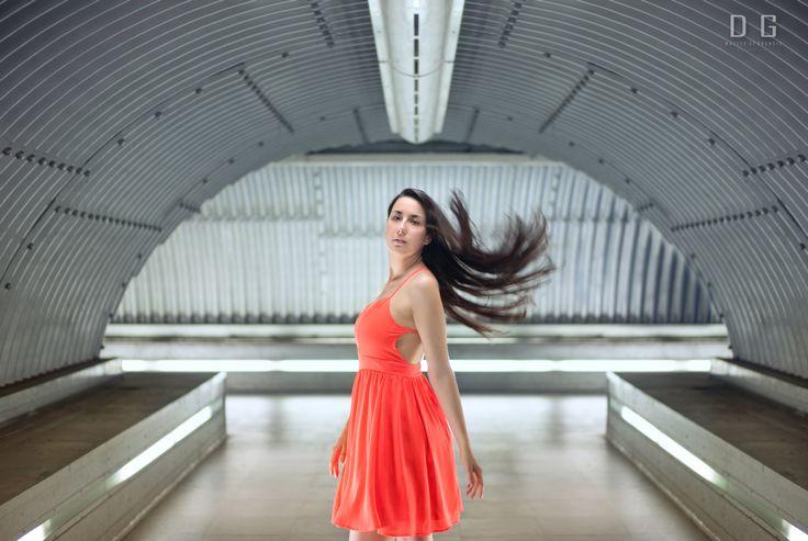 #Woman #Girl #Hair #Red #Underground #Pose #Light #Tunnel #Nikon #50mm #Portrait #Sensual #People