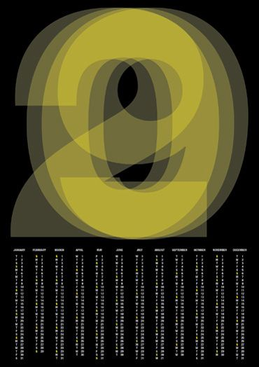 2009 calendar poster by pedro monteiro: Design Collection, 2009 Calendar, Ui Design, Pedro Monteiro, Web Design, Illustrations Graphics Design, Picture-Black Posters, Calendar Posters, Pedro Graphics