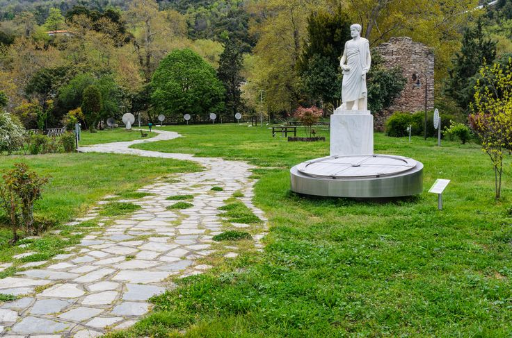 The Aristotle Park is an unique theme park from Stagira, Chalkidiki. Visitors can see here some old experimental instruments: compass, telescope, pentaphone, lens, pendulum, parabolic reflectors, inertia spheres, and many other. Let's not forget one of the main attractions: the water turbine! #Stagira #Aristotle #Chalkidiki #Greece