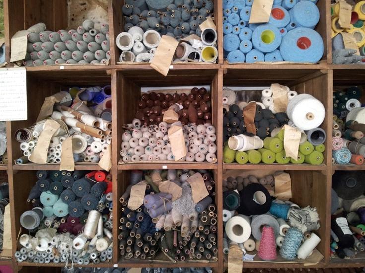 Spools of wool at the Burel Factory in Manteigas in Serra da Estrela  #Portugal