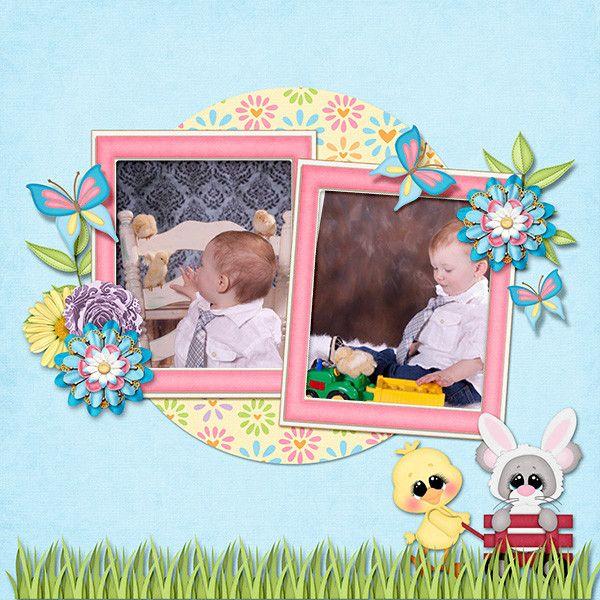 Layout by KittenScraps using A Hoppy Easter Kit
