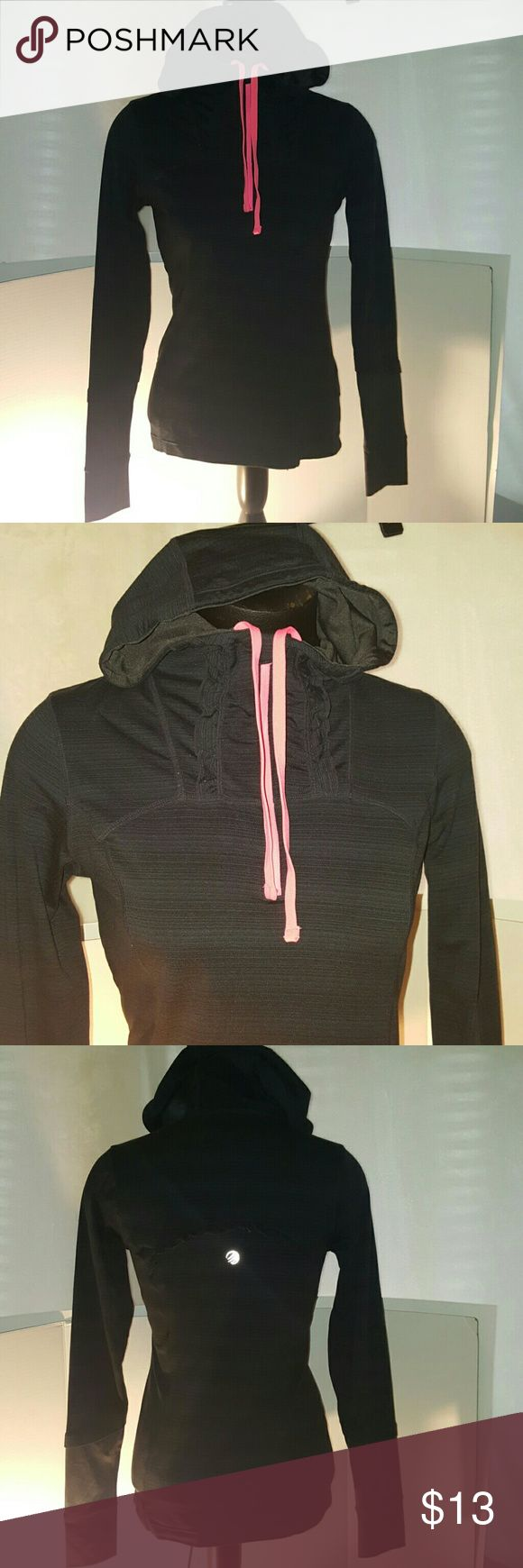MPG gray athletic hoodie size small Mpg mondetta performance gear Hoodie  Gray and pink  Womens size small Stretchy Great condition mpg  Tops Sweatshirts & Hoodies