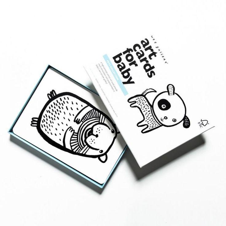 Wee Gallery - Zestaw czarno-białych Kart dla Dzieci Pets