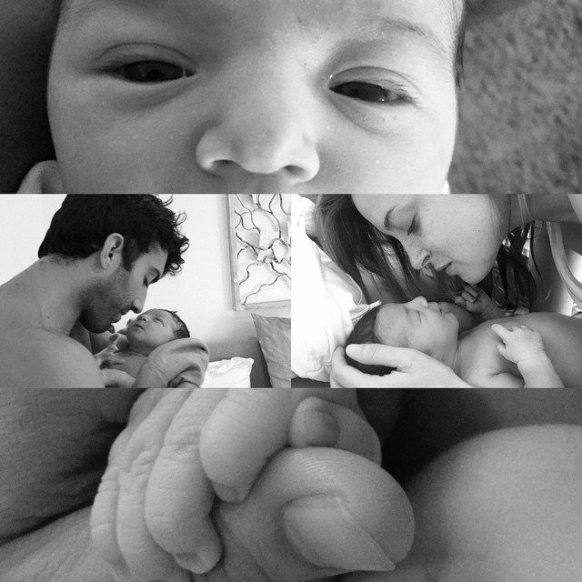 Pin for Later: Look Back at All the Celebrity Babies Who Came Into the World This Summer Justin Baldoni and Emily Foxler