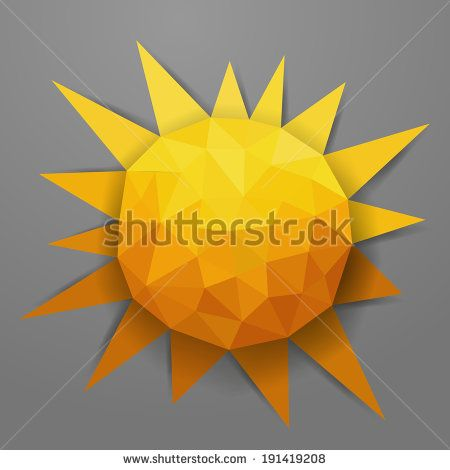 Vector abstract triangle summer sun