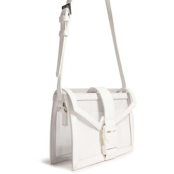 choose original outlet boutique clients first Forever21 Transparent Faux Leather Crossbody Bag ($20 ...