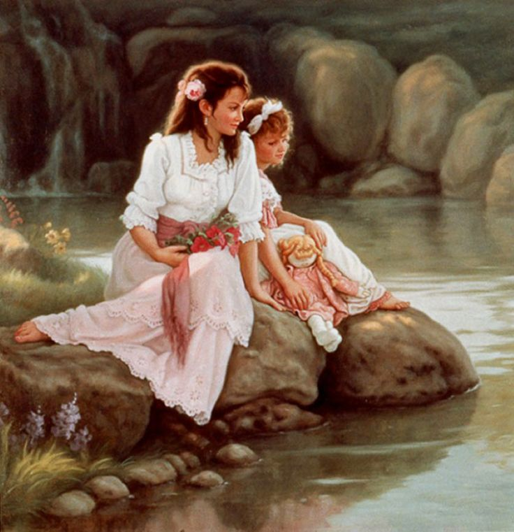 Мать и дочь картинки художников