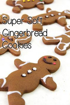 soft ginger bread cookies recipe. Super delicious and very easy to make, these cookies are firm but super soft when you bite into it! My favourite gingerbread recipe ever! www.livingthelovely.com