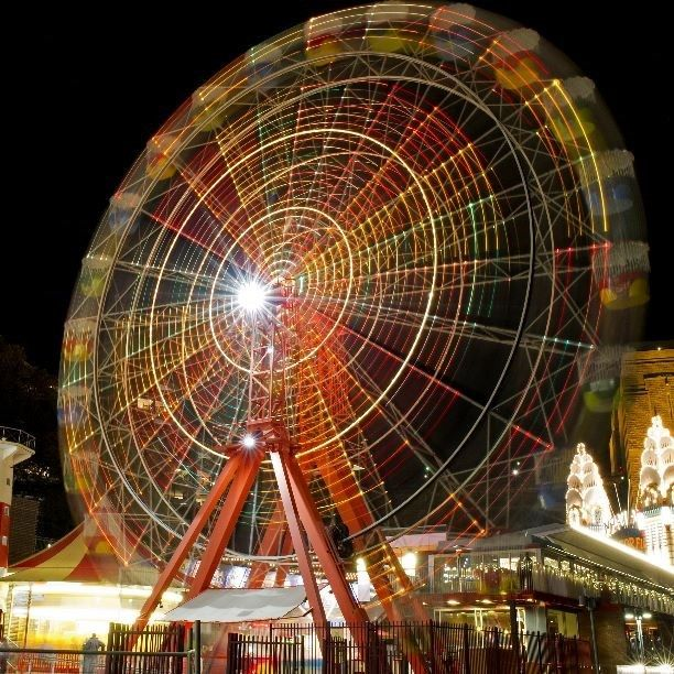 We hope you're not scared of heights Simon! Anyone else care to join him for a spin at Luna Park? #CaptureTheCover #Lunapark #ferriswheel #lights #colours #fun