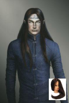#Schwarzes Haar #Männchen #Haar #Elfo #Bild #Masculine