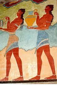 87 - CRETA 05 - La pintura representa con gracia numerosas escenas de la vida cotidiana. La técnica usada es el fresco, de ahí la necesidad de revestimientos sobre las paredes.