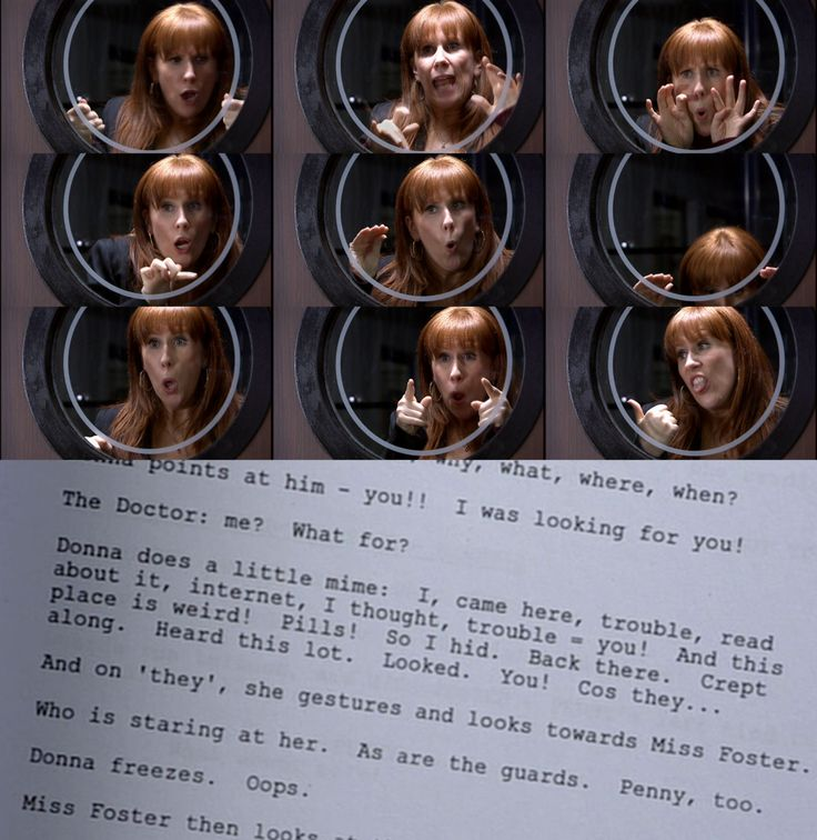 "Now you know what she was saying. || ""Donna freezes oops!"" I want to be a companion just to read the scripts!"