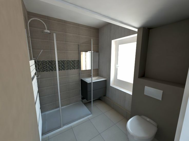 17 best Rendus Salles de bain images on Pinterest Bathroom, Italy - salle de bain rouge et beige