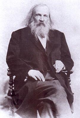 Портрет Д.И. Менделеева.