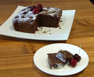 In my thermomix: gluten free chocolate cherry cake – cooks-notebook.com.au