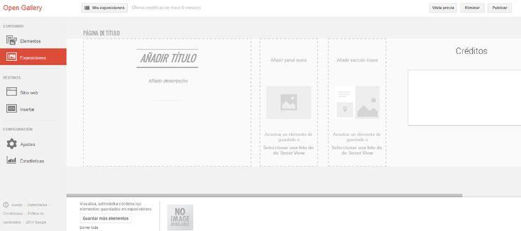 Editor de exposiciones de Google Open Gallery