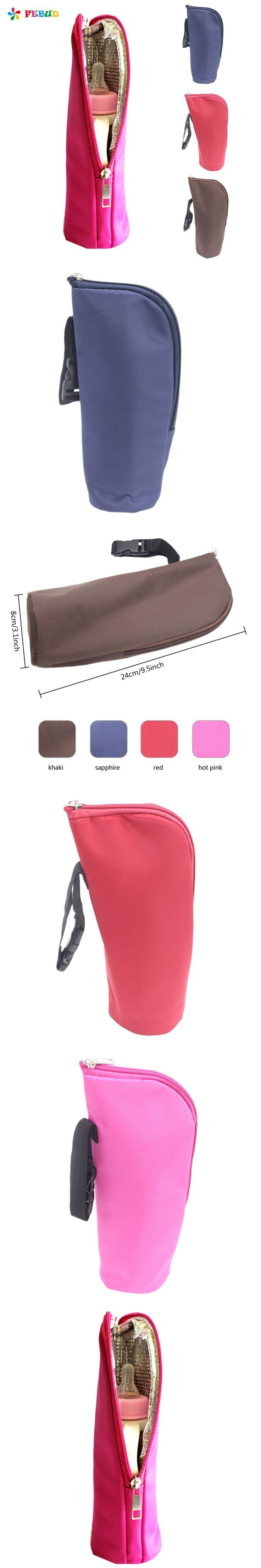 4 Color Baby Bottle Tote Bag Cooler Warmer  Freshness Preserved Feeding Bottle Tote Bag 8*8*24 CM Stroller Hanging Bags