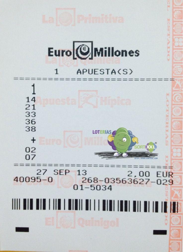 """ATENCION...!! Loterías SORTXXL.com regala una apuesta de Euromillones a todos sus seguidores en TWITTER; para el sorteo del dia 27 de Septiembre (65 Millones de € en juego). Requisitos de participación:  -Ser seguidor de Twitter de SORTXXL.com: @Sortxxl Loterias https://twitter.com/SORTXXL -Hacer un comentario utilizando el hashtag #SORTXXLyEuromillonesParticipaGratis  SUERTE A TODOS Y SOÑAR; 65 MILLONES EN JUEGO…..! """"PARA TODOS"""""""
