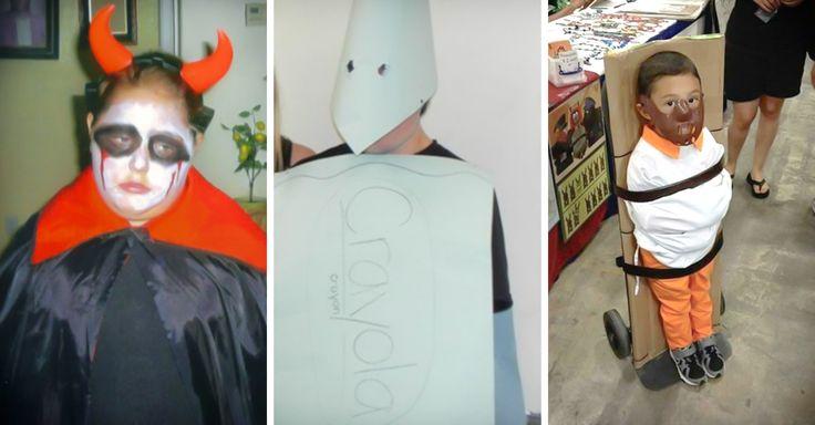 20 imágenes de disfraces para Halloween hechos a mano en el último minuto, sin recursos económicos ni materiales, que fallaron rotundamente, pero son graciosos.