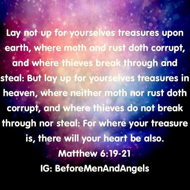 Matthew 6:19-21 #Christian #bible #bibleverse