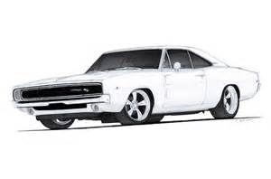 American Muscle Car Drawings Bierwerx Com Cars 1968 Dodge