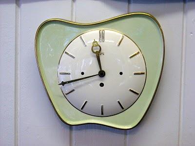 Original 1950s Ceramic Wall Clock