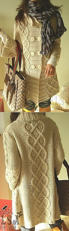 Obrazac za igle za pletenje kaput.