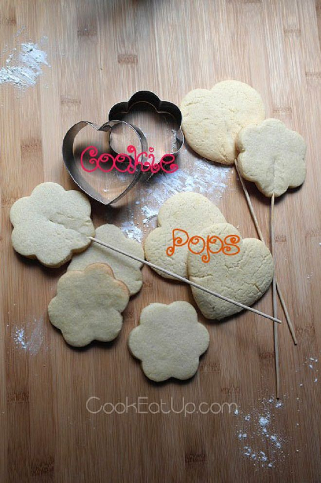 Συνταγή: Παιδικά μπισκότα σε ξυλάκι, Cookie Pops ⋆ CookEatUp