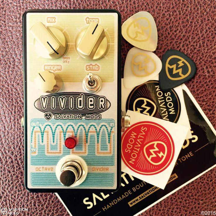 Vivider octave divider guitar pedal by Salvation Mods (http://www.salvationaudio.com)