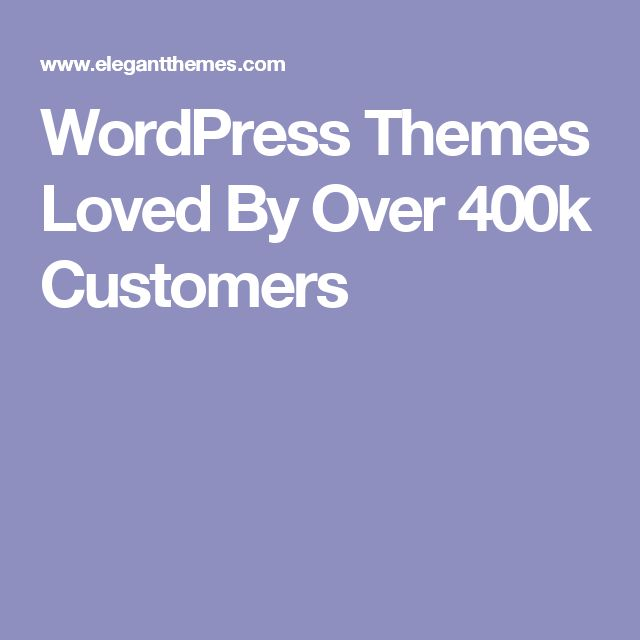 WordPress Themes Loved By Over 400k Customers