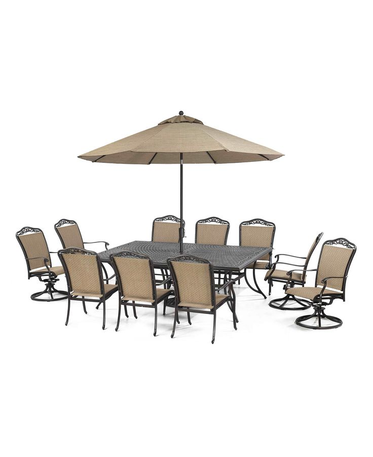 Beachmont Outdoor 11 Piece Set: 84 X 60 Dining Table, 6 Dining Chairs And 4  Swivel Chairs   Off Closeouts   Furniture   Macyu0027s