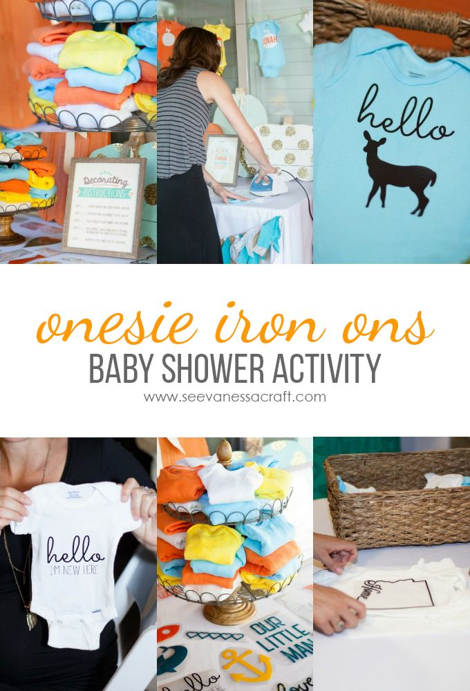 Onesie Iron On Decorating Station for Baby Showers