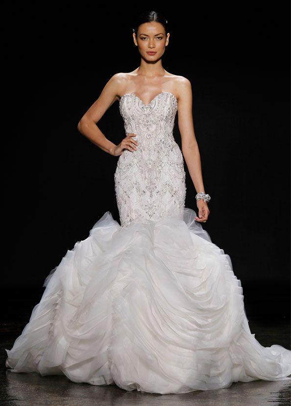 107 best Lazaro images on Pinterest | Short wedding gowns, Bridal ...