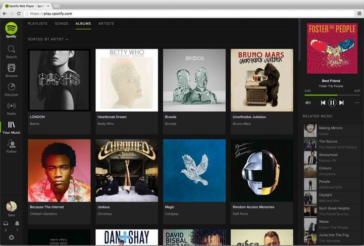 New spotify user interface