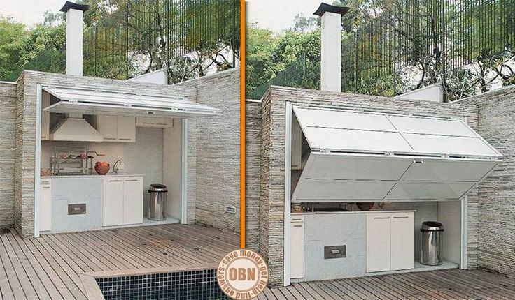The problem with most outdoor kitchen is that they're exposed. Here's an idea that will keep them protected from the elements AND provide shade for the chef in your family! Thumbs up? http://theownerbuildernetwork.co/ideas-for-your-rooms/kitchens-gallery/outdoor-kitchen/