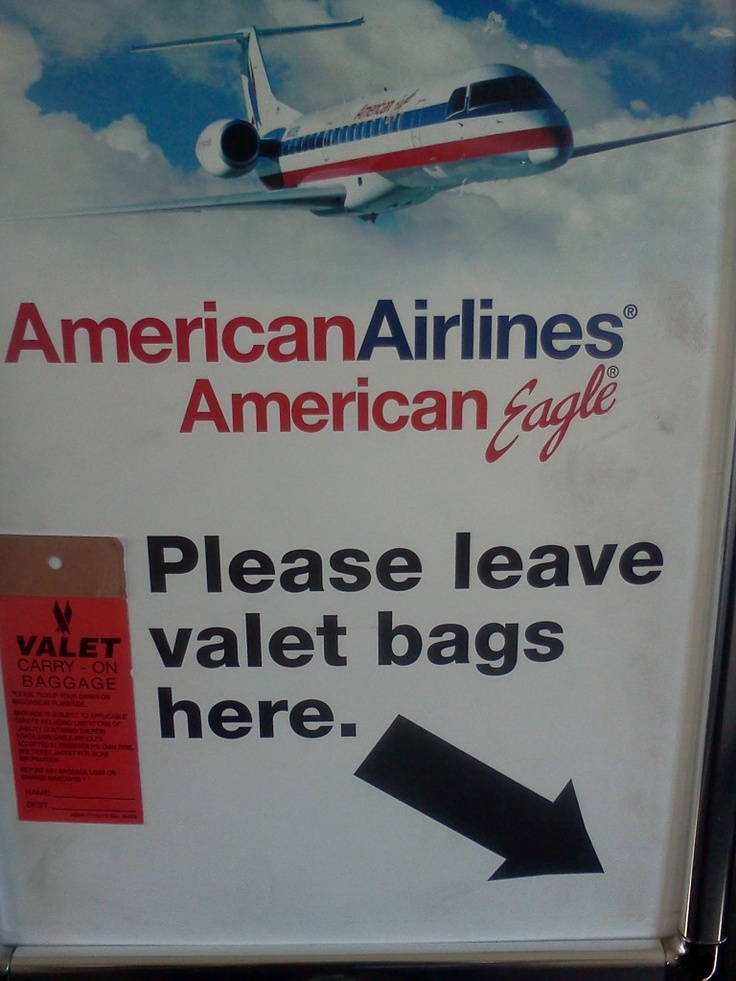 Carry On Bags Valet Check   American Eagle Airlines  What is A Valet Checked Bag?