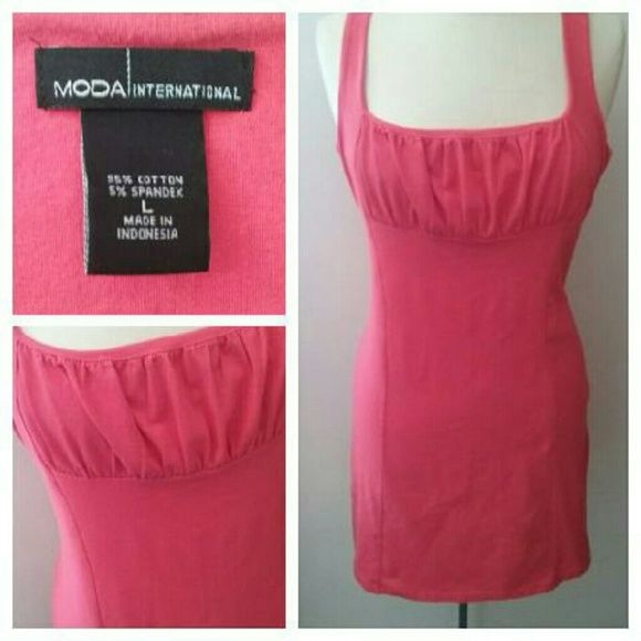 I just discovered this while shopping on Poshmark: Peachy Coral Stretchy Summer Dress. Check it out! Price: $8 Size: L, listed by jacque13b