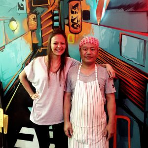 Me & Chef Vinay at The Green Parrot in Mackeurtan Avenue, Durban North - Big mates!