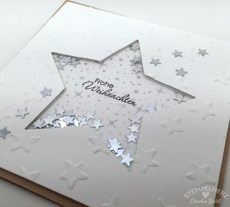 Stampin Up - Stempelherz - weihnachtliche Schüttelkarte Frohe Weihnachten 02