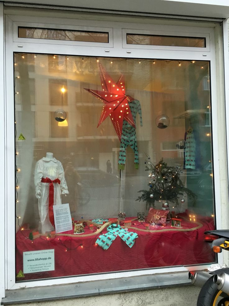 Christmas and Santa Lucia decoration in our shop windows