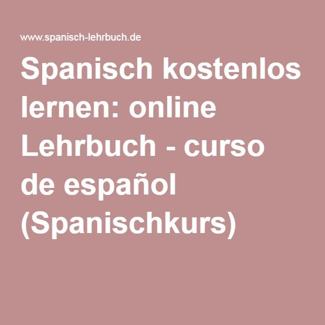 Ber ideen zu spanisch sprache auf pinterest for Zimmer auf spanisch
