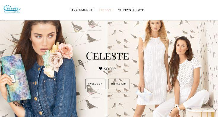 We made a website for Celeste Tampere. A pretty one, I think.