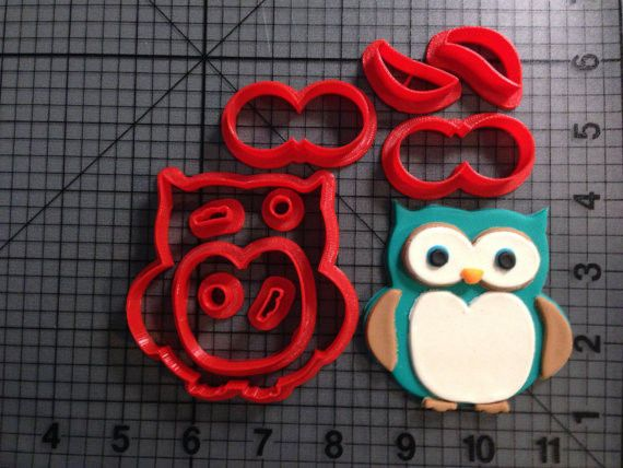 Owl Cookie Cutter Set #Unbranded