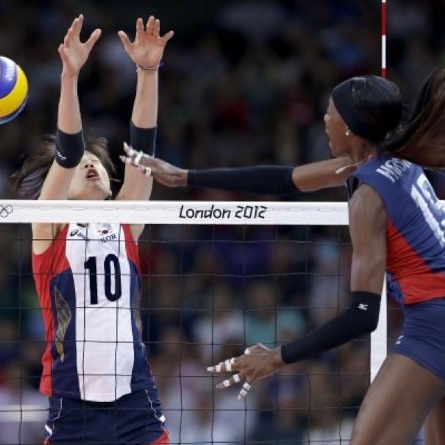 Destiny Hooker- A USA Olympic volleyball player who's nails remain perfect. Amazing... O.o
